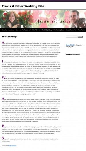 "Steven Sitler: ""The Courtship"" — Steven's Version"