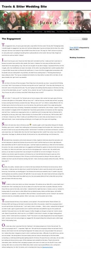 """Steven Sitler: """"The Engagement"""" — Steven's Version"""