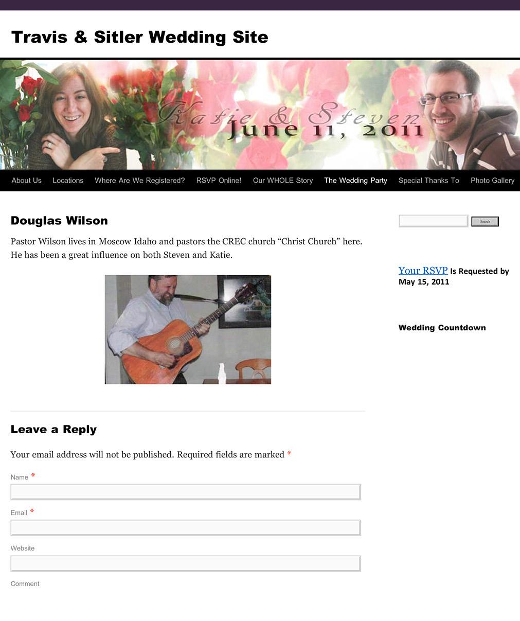 June11Eleven.com: Pastor Douglas Wilson