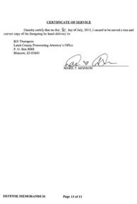 Steven Sitler Defense Memorandum, page 13