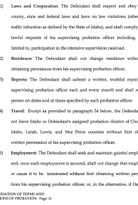 Consolidation of Terms and Conditions of Probation page 3