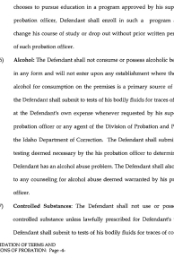 Consolidation of Terms and Conditions of Probation page 4