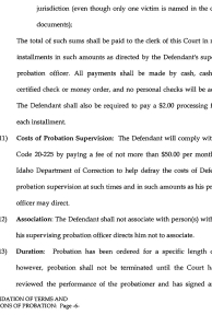 Consolidation of Terms and Conditions of Probation page 6