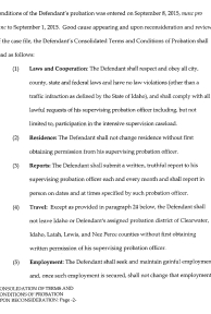 Consolidation of Terms & Conditions of Probation upon Reconsideration page 2