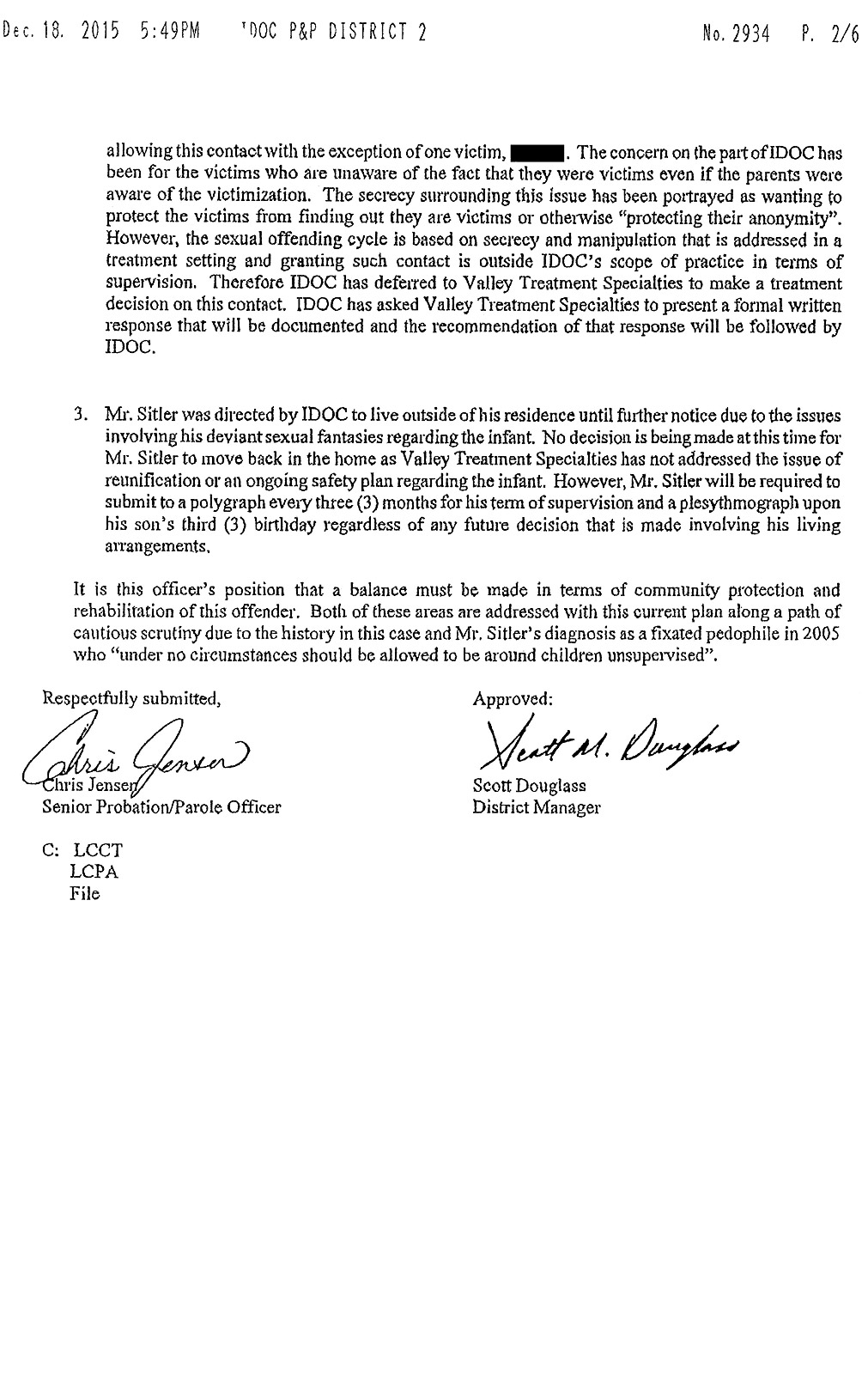 IDOC page 2   Steven Sitler Archive
