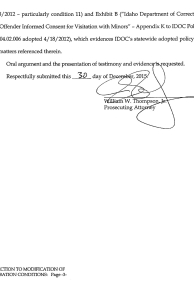 Objection to Modification of Probation Conditions page 3