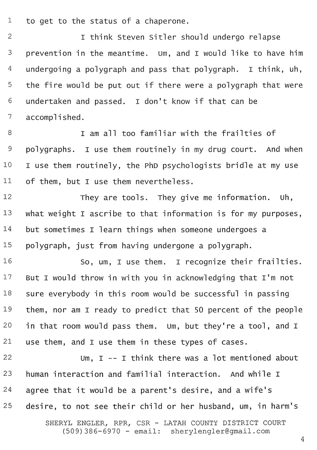 Exhibit B: Excerpted Court Transcript, page 4